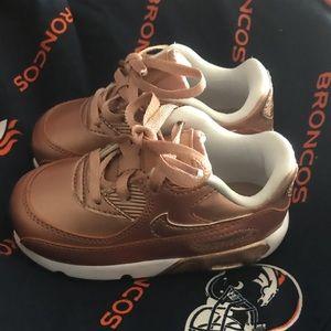 Toddler Girls Rose Gold Nike Air Max 90 SE LTR